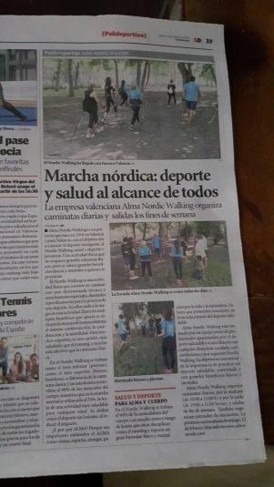 Reportaje Escuela Marcha Nórdica Alma Nordic Walking en Súper Deporte Valencia